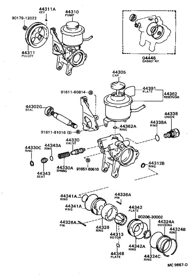 Toyota Corolla Ring  Snap For Flow Control Valve   Snap